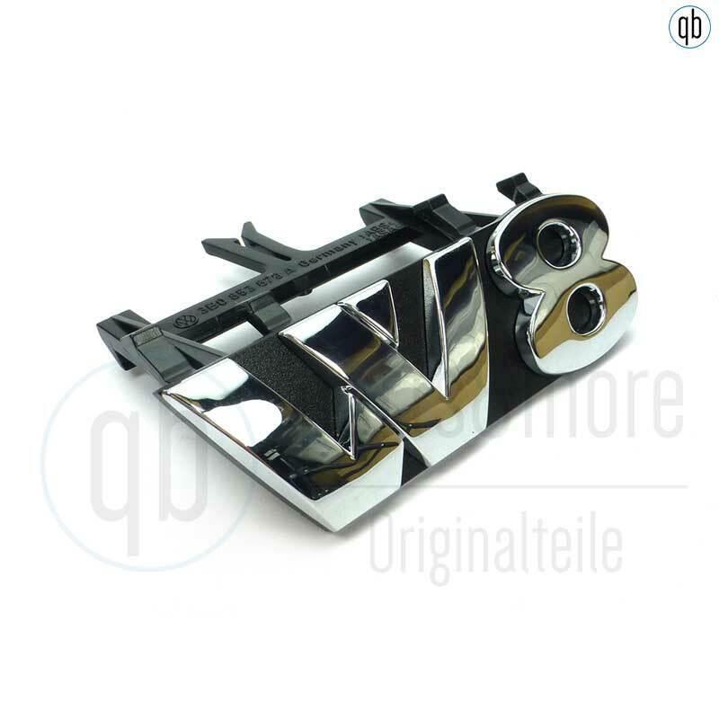 Original VW Schriftzug Kühlergrill Passat B5 W8 vorne chrom 3B0853679A PWV