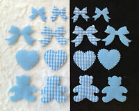 Lot Gingham Blue Hearts Bows Bears Baby Boy Announcements Cards Shower Favors