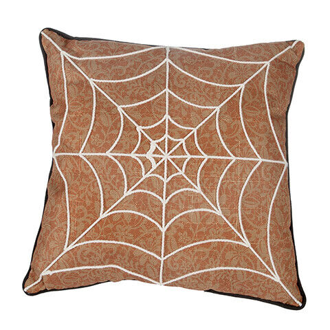 Darice Halloween Spider Web Pillow 16 x 16 inches w