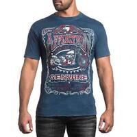 Men's Affliction sour Line Motorcycle Mma Bmx Ufc Biker Graphic Print T-shirt