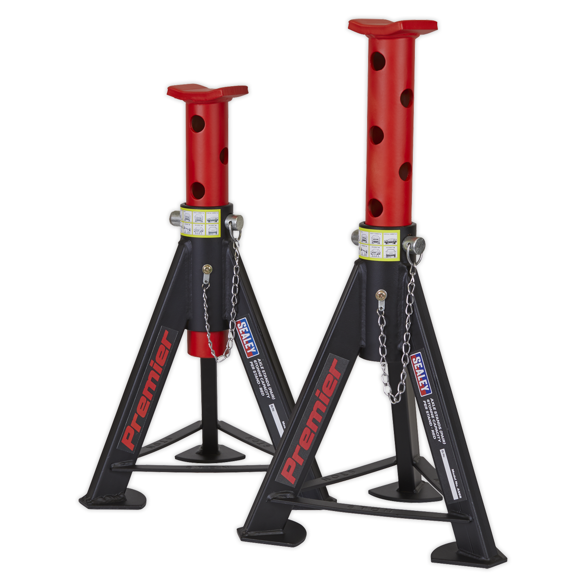 - Axle Stands (Pair) 6tonne Capacity per Stand - rot SEALEY AS6R by Sealey
