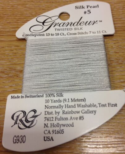 Grandeur 100/% twisted silk pearl thread floss embroidery crossstitch needlepoint