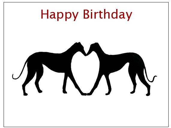Gifts Birthday Card Greyhound Whippet Lurcher Italian Dog Gift CUSTOM TEXT