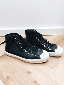 b3fc476b119 Jimmy Choo black leather men's high top trainers - size 8UK | eBay