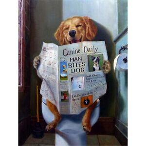 5D-DIY-Full-Drill-Diamond-Painting-Dog-Reading-Newspaper-Cross-Stitch-Kits-Decor