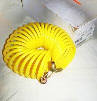Eaton Eb9218-25 1/4 Yellow Coiled Air Hose Assembly Fits At4227 Grove Crane