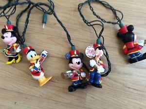 Disney-Mickey-and-Friends-Marching-Band-Christmas-Lights-Rare-Disneyland-HTF