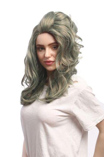 Wig Ladies Carnival Halloween Grey Green Mermaid Mermaid Mermaid Long Wavy