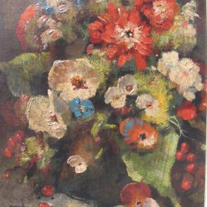 Faber-Karl-1908-STILLEBEN-mit-Blumen-in-VASE-DAHLIEN-still-life-Mohn