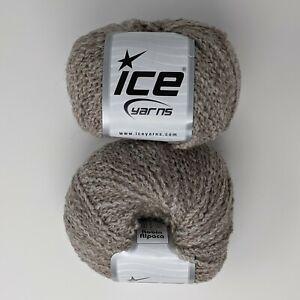 Lot-of-2-Skeins-Balls-Robin-Alpaca-Beige-Camel-50-g-164-yds