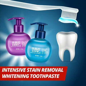 Fruit-Flavor-Whitening-Viaty-Toothpaste-Baking-Soda-Toothpaste-STAIN-REMOVER-New