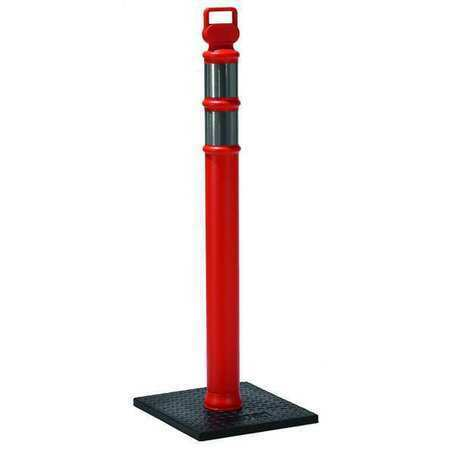 ZORO SELECT 03-747RBCG Delineator Post with Base,45 In,Orange