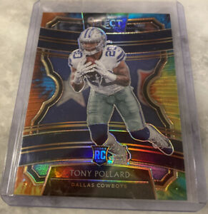 2019-select-football-Tony-Pollard-Tie-Die-prizm-RC-25