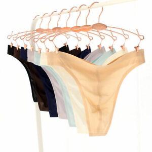 Ultra-Thin-Men-Sexy-Briefs-G-String-Thong-Low-Rise-Bikini-T-Back-Sheer-Underwear
