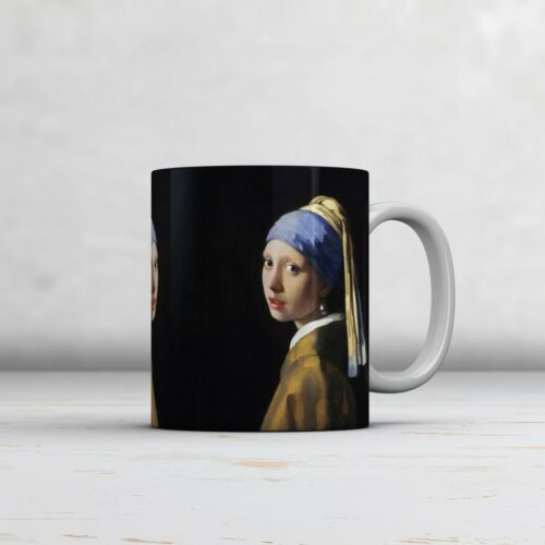 The Girl with a Pearl Earring Ideal Gift. Johannes Vermeer Fine Art Mug//Cup