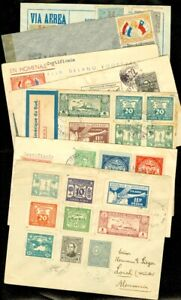 EDW1949SELL-PARAGUAY-Collection-as-received-of-7-covers-5-Reg-Air-amp-1-Censored