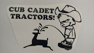 CUB-CADET-pee-decal-MOWER-parts-sticker-TRACTOR-pull-pulling-trailer-plow-NEW