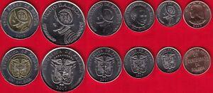 1 centesimo 1//2 balboa 2018 UNC Panama set of 5 coins