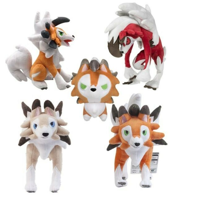 Pokemon Center Lycanroc Midnight Form Plush Toy Stuffed Animal Doll 12/'/'