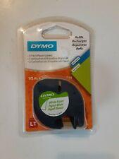 Genuine Dymo Lt Letratag 91330 Whitepaper Labels Refill Tape 12 W X 13 L 2pk