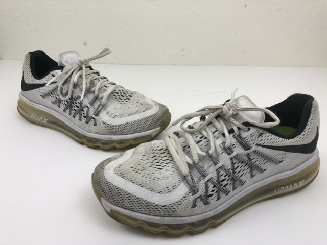 87cf78a1fc5 Nike Air Max 2015 Men s Shoes Size 8.5 White Black Running Athletic 698902- 101