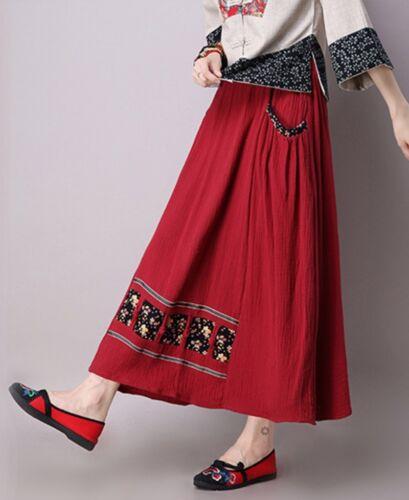 Retro Chinese Style Women Slim Cotton Linen Caual Short Tops T-Shirt Dress Skirt