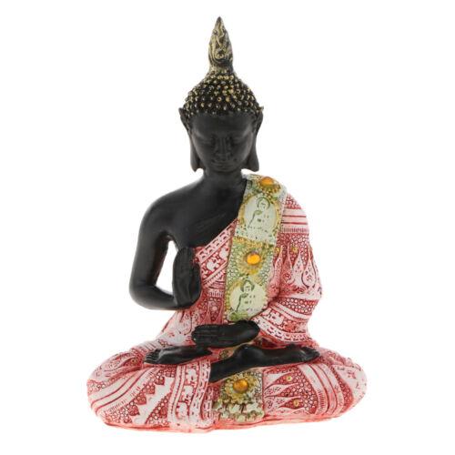Handgeschnitzten Sitzende Buddha Figur Statue Glücksbringer Fengshui Dekor,