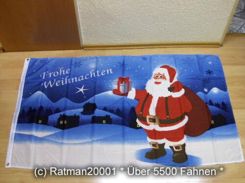 Fahnen Flagge Frohe Weihnachten Weihnachtsfahne Neu 90 x 150 cm