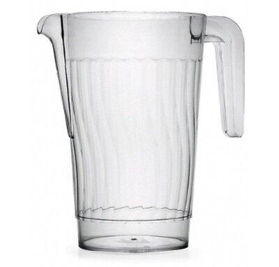 1 ct 50 oz Beverage Pitcher Heavy Duty Plastic Disposable Reuseable BPA Free