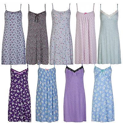 Marks & Spencer Womens Strappy Nightdress New M&S Chemise Short Ladies Nightie