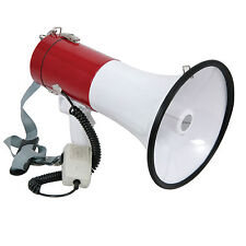 600m Range 30W Megaphone/Loud Hailer with Siren & Microphone - Speech/Voice Amp
