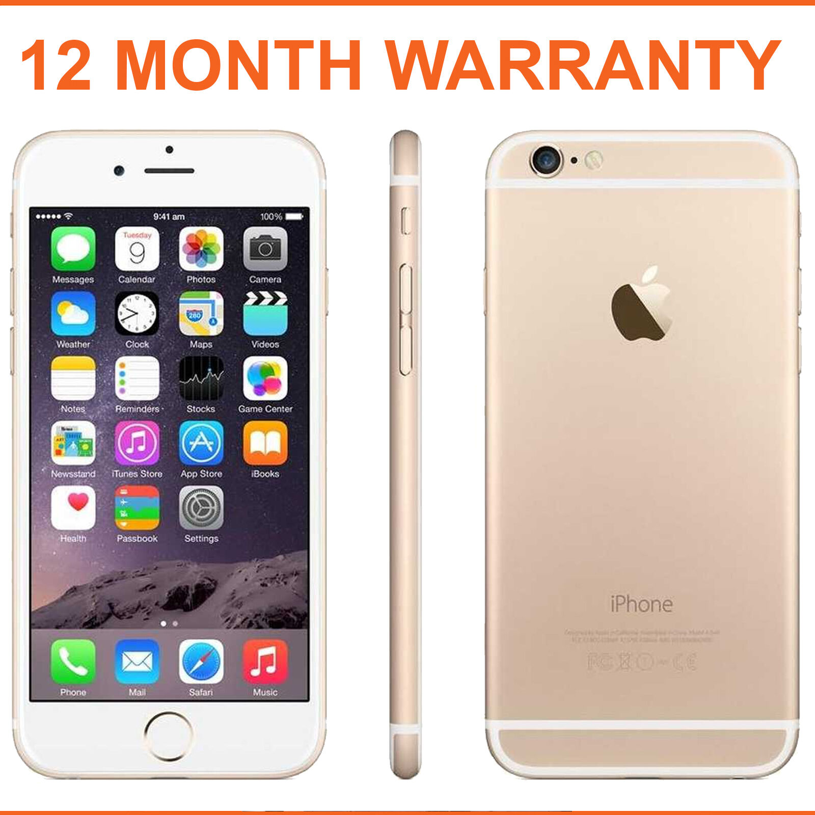 apple iphone 6 16gb champagne gold factory unlocked ebay. Black Bedroom Furniture Sets. Home Design Ideas
