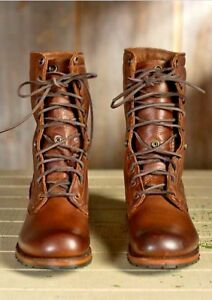 4575a536782d MENS NEW HANDMADE BROWN MILITARY BOOTS MEN BROWN HIGH ANKLE COMBAT ...