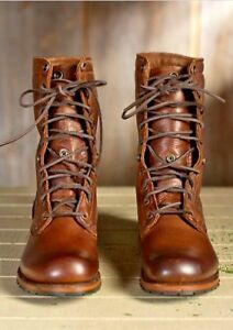 5727f720c0f1 MENS NEW HANDMADE BROWN MILITARY BOOTS MEN BROWN HIGH ANKLE COMBAT ...