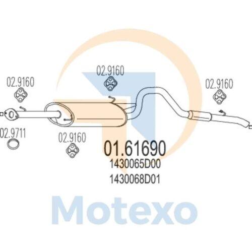 MTS 01.61690 D/'échappement Arrière Boîte Grand Vitara 2.5i V6 24 V 4X4 01//98-09//05