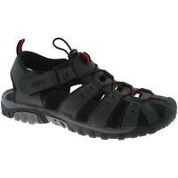 MENS PDQ CLOSED TOE SPORTS SANDALS SIZE UK 6 - 12 WALKING TRAIL GREY M040F KD