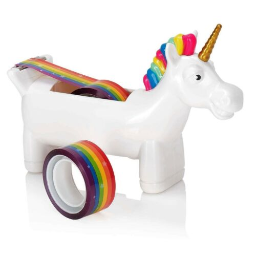 Klebebandabroller Einhorn Abroller Unicorn Regenbogen Pony Pferd Märchen