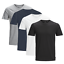 JACK-amp-JONES-Herren-T-Shirt-4er-Pack-Basic-O-Neck-V-Neck-Shirt-S-M-L-XL-XXL Indexbild 3