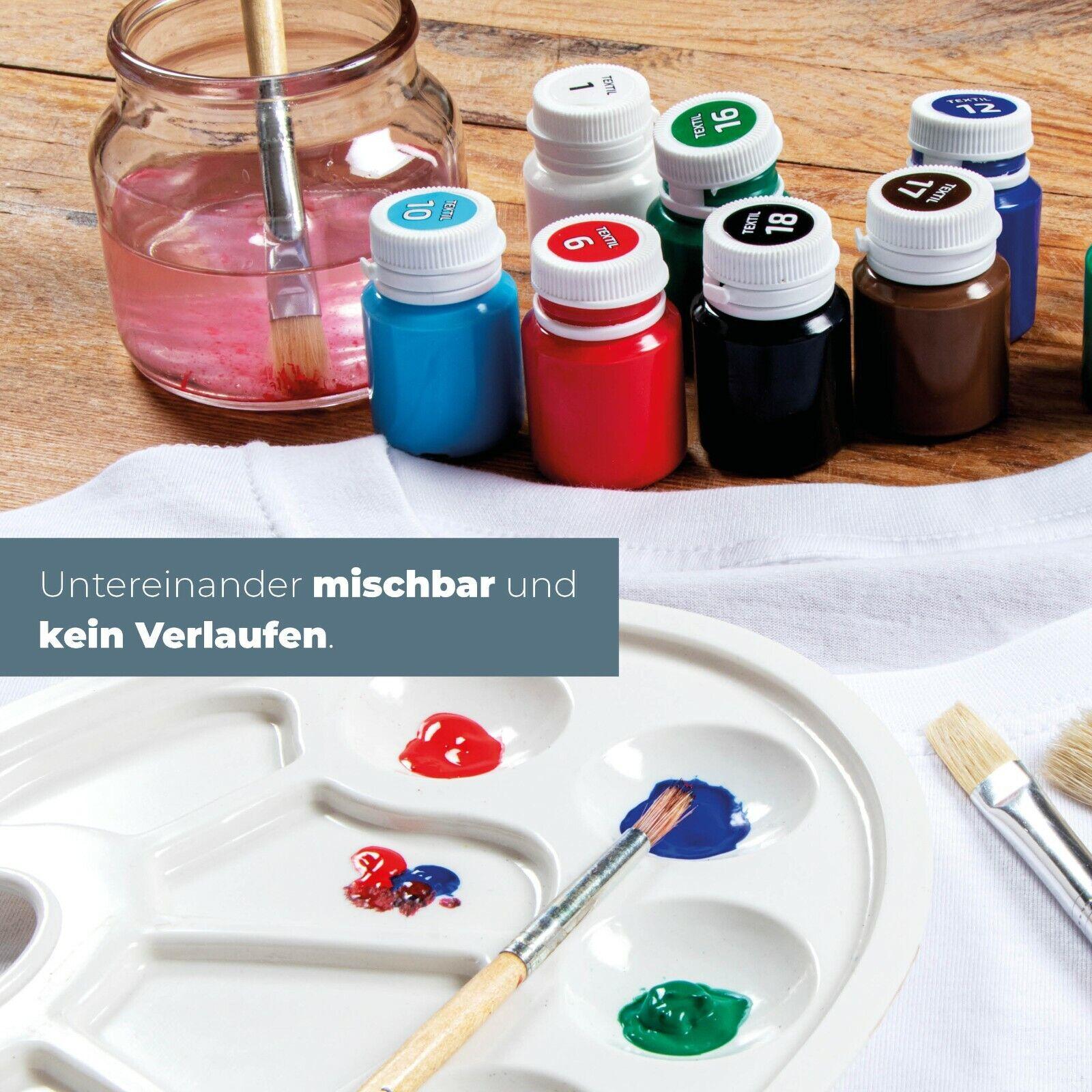 Krevo Art Stoffmalfarben Textilfarben , Für helle und dunkle Textilien