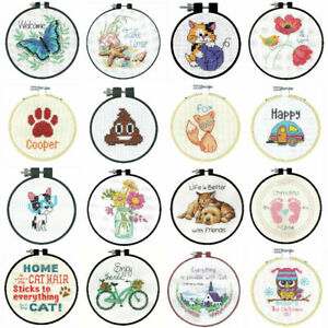 Dimensions-Counted-Cross-Stitch-Kit-With-Hoop-Beginners-Learn-A-Craft