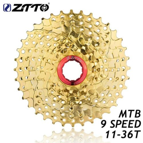 ZTTO 9 27Speed Gold Free Wheel Cassette MTB Mountain Bike Parts 11-36T for M370