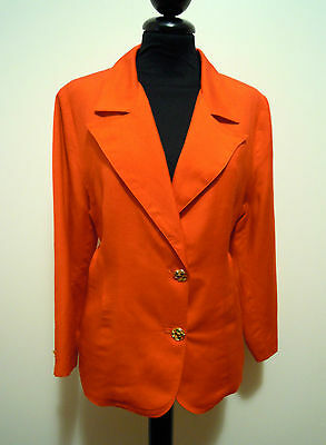 Cult Vintage '70 Women's Jacket Viscose Rayon Woman Jacket Sz M 44 Structural Disabilities