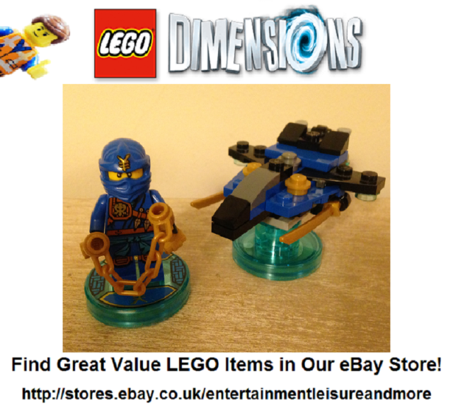Genuine LEGO Dimensions Ninjago Jay Fun Pack 71215 - PACK FULLY COMPLETE -