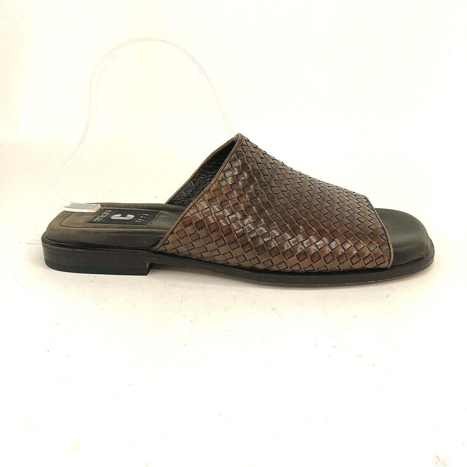 Church's Mens Dimensione UK 9 US  11 M Marronee Leather Weave Slide Sandals scarpe  le migliori marche vendono a buon mercato