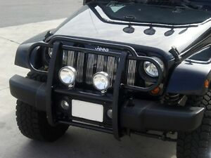 Image Is Loading Black Horse 2007 2016 Jeep Wrangler Grille