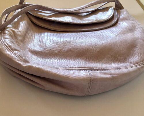 Vintage 1970's Halston Brand Soft Lavender Leather