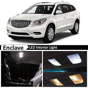 Details About 19x White Interior Led Lights Package For 2008 2016 Buick Enclave