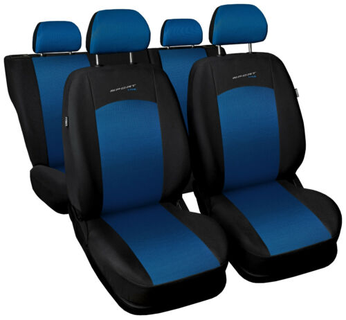 Car seat covers fit Volkswagen Polo full set blue//black sport style