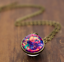 Solar-System-Pendants-Necklace-Galaxy-Planet-Necklace-S-Double-Sided-Glass-Dome thumbnail 8