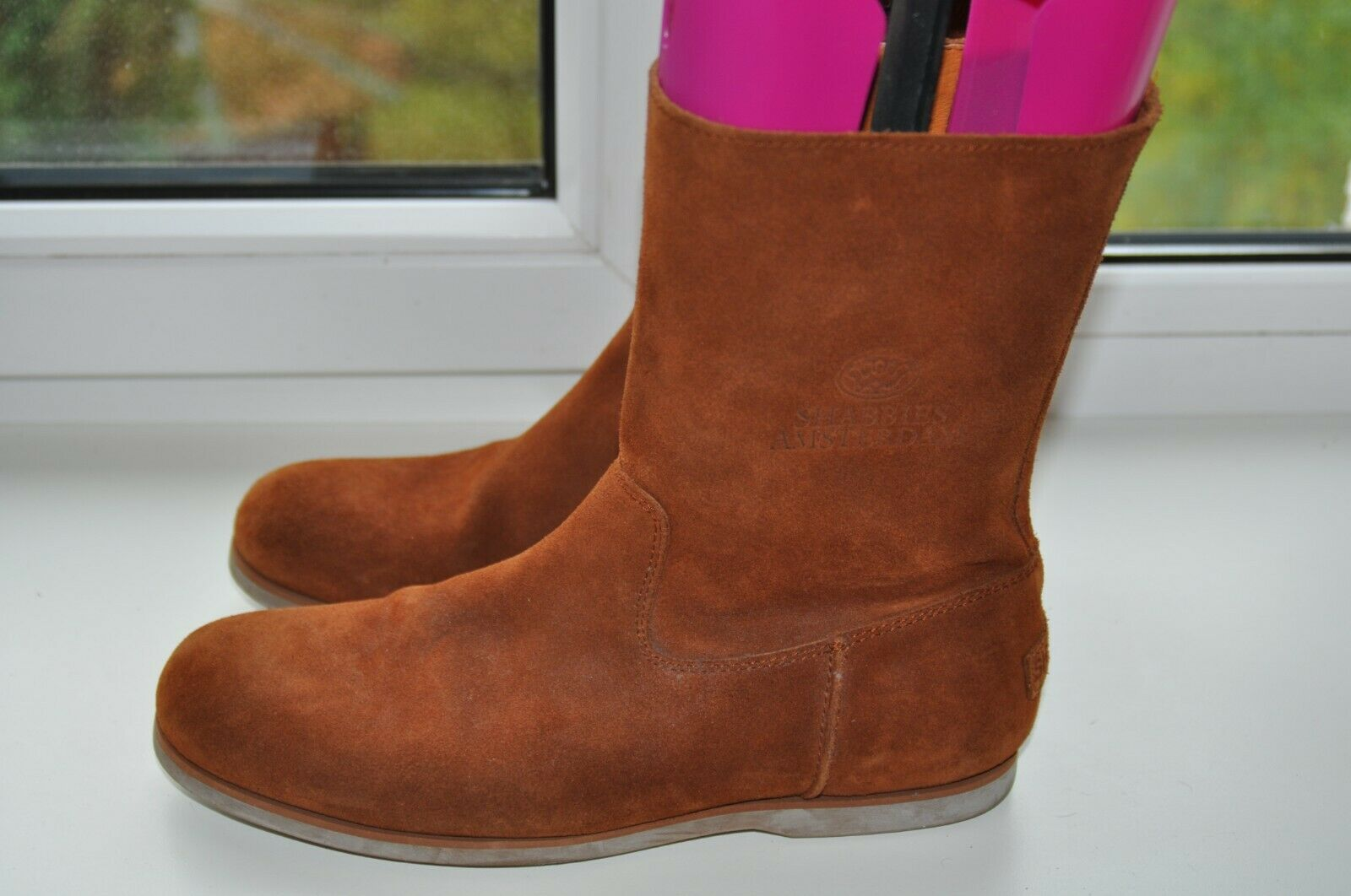 Shabbies Amsterdam Mens Brown Suede Leather Boots Size EU43/UK9